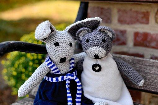 Teddy Bear, Teddy, Hare, Fabric Bunny, Crochet