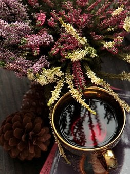 Tea, Heather, Heathers, Autumn, Roses, Violet