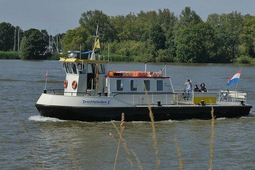 Fietspont, The Leak, Ferry Service, River, Holland