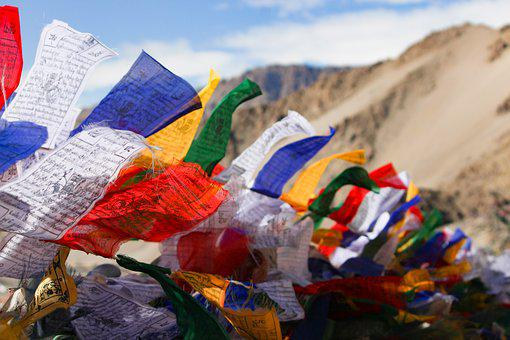Holy Flags, Buddhism, Leh, Stupa, Prayer, Holy, Buddha