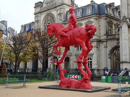 Sculpture, Horse, Jumper, Artwork, Reflection, Mirror