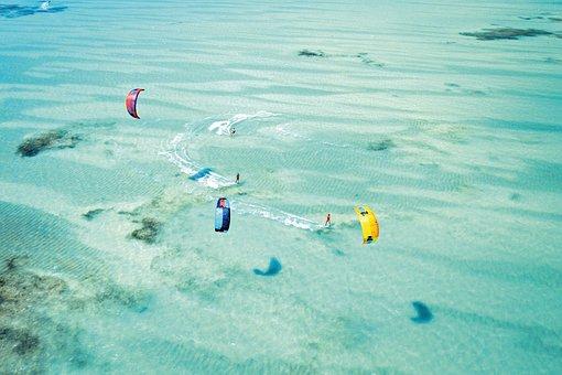 Kite Surfing, Kitesurfing, Sea, Water Sports, Summer
