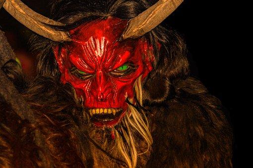 Krampus, Mask, Customs, Austria, Creepy, Devil, Monster