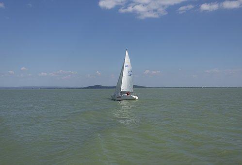 Sailing, Ship, Sail, Shipping, Lake, Blue, Water, Wave