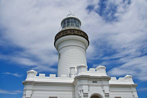 Lighthouse, Light, Warning, Beacon, Architecture, White