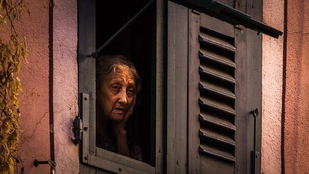 Emotions, Old Woman, Loneliness, Corsica, Kummer