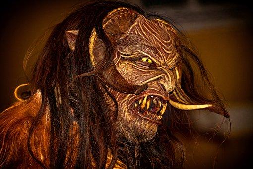 Krampus, Mask, Devil, Creepy, Monster, Evil, Customs