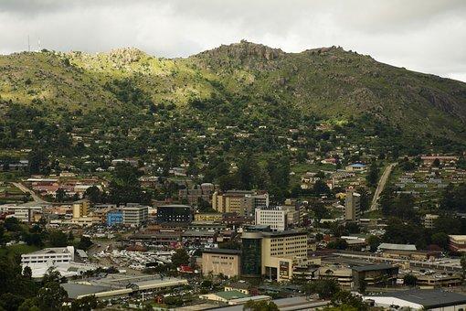 City, Mbabane, Landscape, Town, Panorama, Cityscape