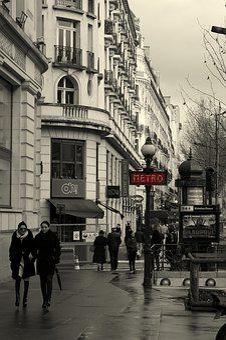 Paris, Metro, Station, Urban, Building, Street