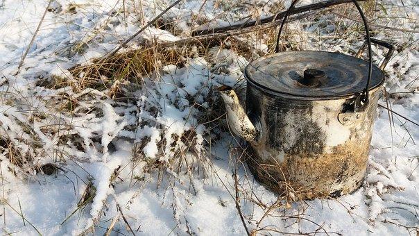 Maker, Winter, Cold, Snow, Nature, Tea, Grass, Picnic