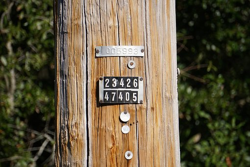 Power Pole, Numbers, Electricity