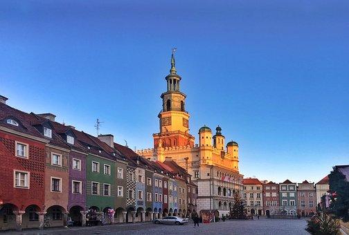 Mikołajki, Poznan, In The Morning, City, Old Market