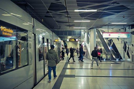 Metro, Stop, Railway Station, Platform, Architecture