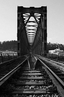 Passau, Bridge, Building, Architecture, Railway