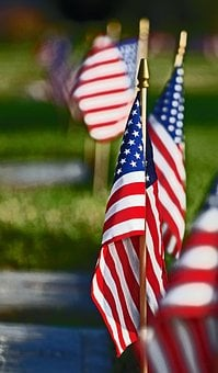 Flag, Red White And Blue, Stars And Stripes, Usa