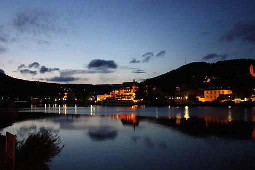 Mosel, River, Landscape, Evening