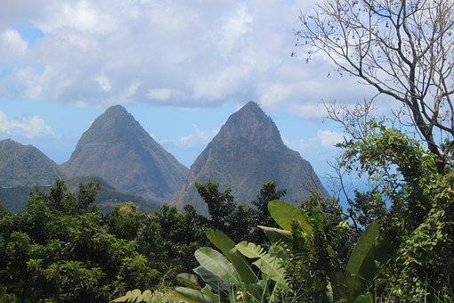 Saint Lucia, Island, Sea, Blue, Water, Nature