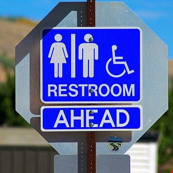 Restroom Sign, Restroom, Sign, Toilet, Bathroom, Symbol