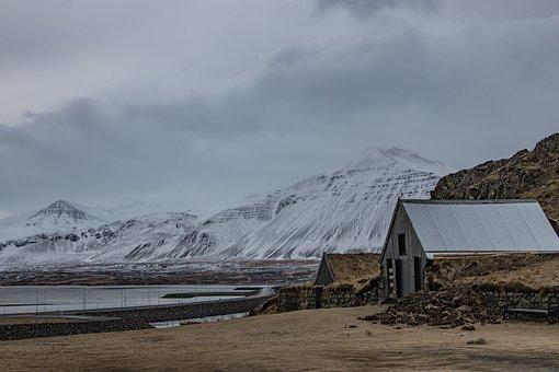 Borgarnes, Iceland, Winter, Snow, Landscape, Mountains