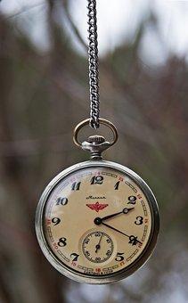 Vintage, Pocket Watch, Russian, Soviet, Molinja