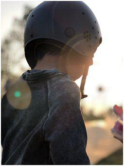 Child, Boy, Outdoor, Helmet, Sun, Happy, Play, Kids