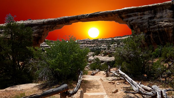 Sunset, Park, American, Travel, Landscape, Erosion
