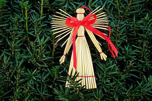 Angel, Decoration, Straw, The Ribbon, Wings, Character