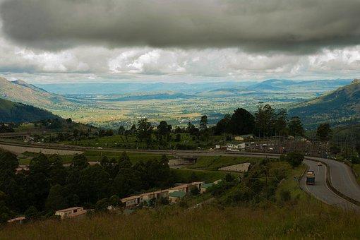 Road, Highway, Mountain, Traffic, Landscape