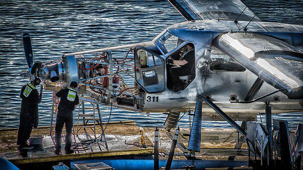 Service, Seaplane, Aircraft Engine, Vancouver, Fitter