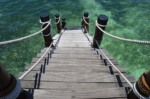 Pier, Stairs, Water, Sea, Coast, Structure