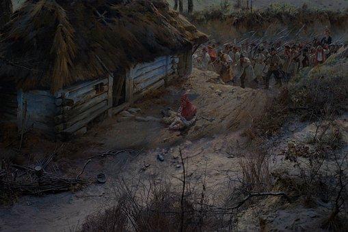 Painting, Kościuszko, Kossak, Wroclaw