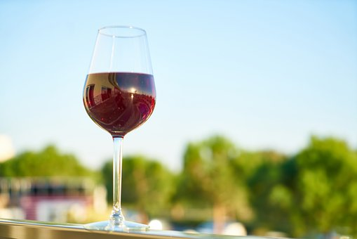 Wine, A Toast, Landscape, Love, Glass, The Drink, Red