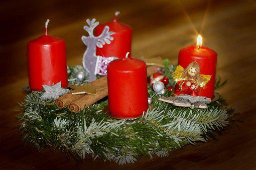 First Advent, Advent Wreath, Advent, Candles
