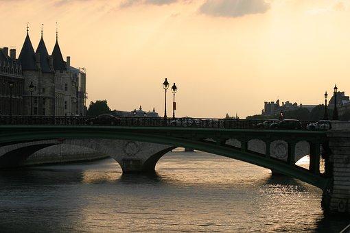 Paris, France, Bridge, Architecture, Landmark, City