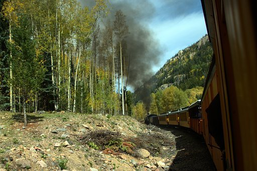 Autumn Train Ride, Train, Railroad, San Juan, Mountains