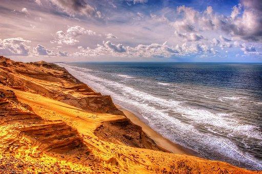 Rubric, North Sea, Denmark, Beach, Sea, Summer, Sun