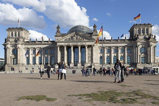 Berlin, Reichstag, Sky, Bundestag, Architecture