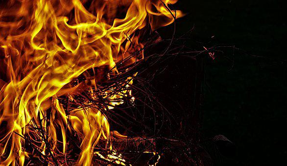 Fire, Flame, Wood, Aesthetic, Carbon, Burn, Heat, Hot