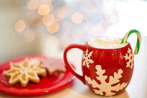 Christmas, Cookies, Hot Chocolate, Glittery, Sweet