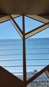 Calgary, Library, Window, City Hall, Ar, Architecture