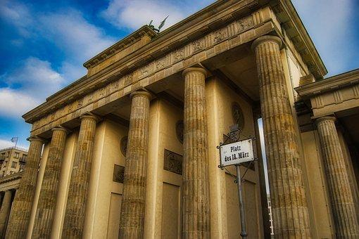 Berlin, Brandenburg Gate, Perspective, Landmark, City
