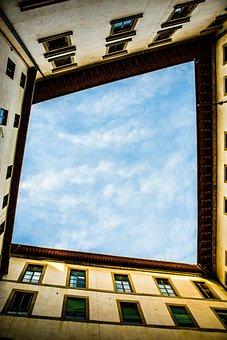 Florence, Sunset, Italy, Yard, Sky, Architecture, City