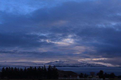 Mountain, Mount Charleston, Clouds Fog
