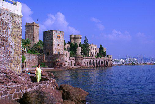 Castle, Mediterranean, Architecture, Coast, Fortress