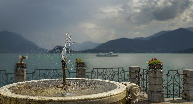 Source, Water, Drink, Sky, Drops, Blue, Lake, Landscape
