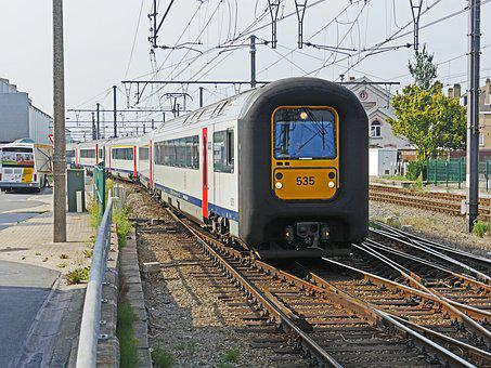 Electrical Multiple Unit, Sncb, Row On The 96