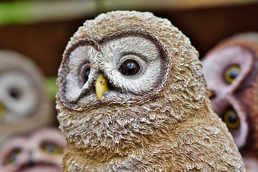 Owl, Figure, Decoration, Bird, Deco, Decorative, Cute