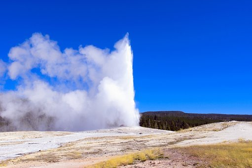 Yellowstone's Old Faithful, Upper, Geyser, Basin