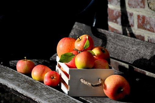 Apple, Goldparmäne, Box, Apple Crate, Fruit, Harvest