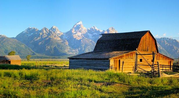 Rustic Mormon Row Barn, Barn, Grand, Teton, National